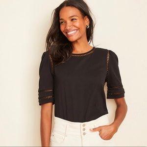 Black Ann Taylor blouse/tunic NWT